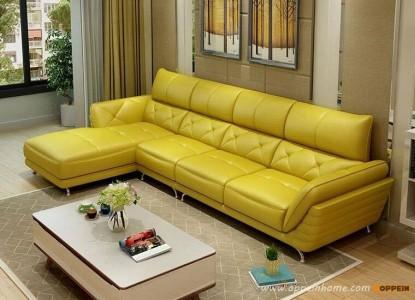 Sofa cao cấp vàng chanh lạ mắt