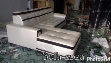 sofa cao cấp màu trắng tinh tế