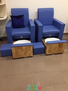 ghế nail Có Hộc Kéo xanh