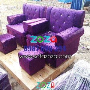 Ghế Làm móng màu tím