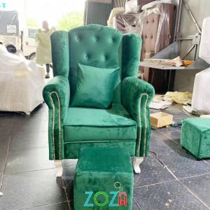 Ghế nail thanh lý màu xanh